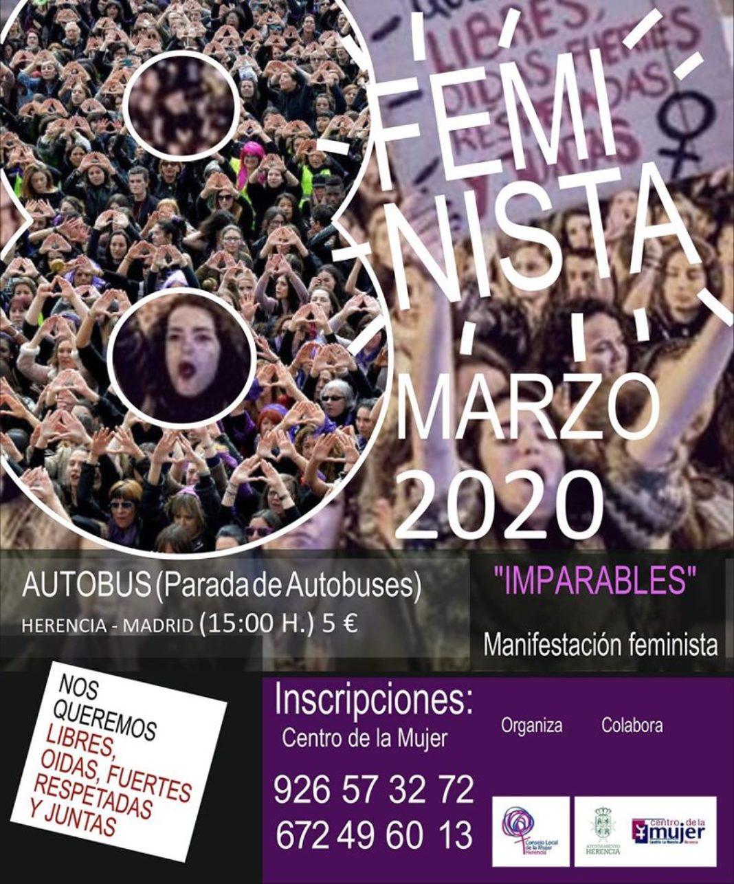 imparables 1068x1286 - Viaje a Madrid para asistir a la manifestación feminista del 8M