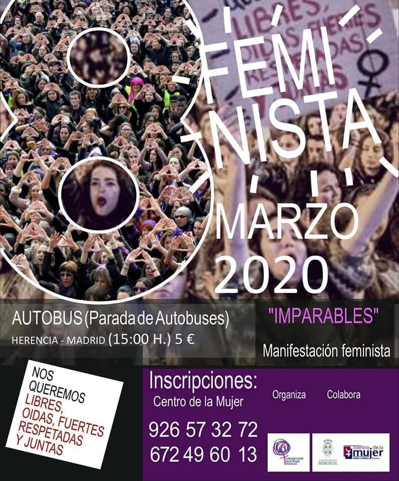 imparables - Viaje a Madrid para asistir a la manifestación feminista del 8M
