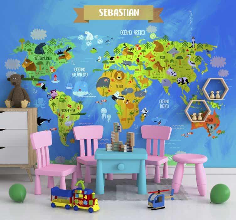 mural infantil personalizable - Ideas para renovar la apariencia de la cocina sin gastar mucho dinero