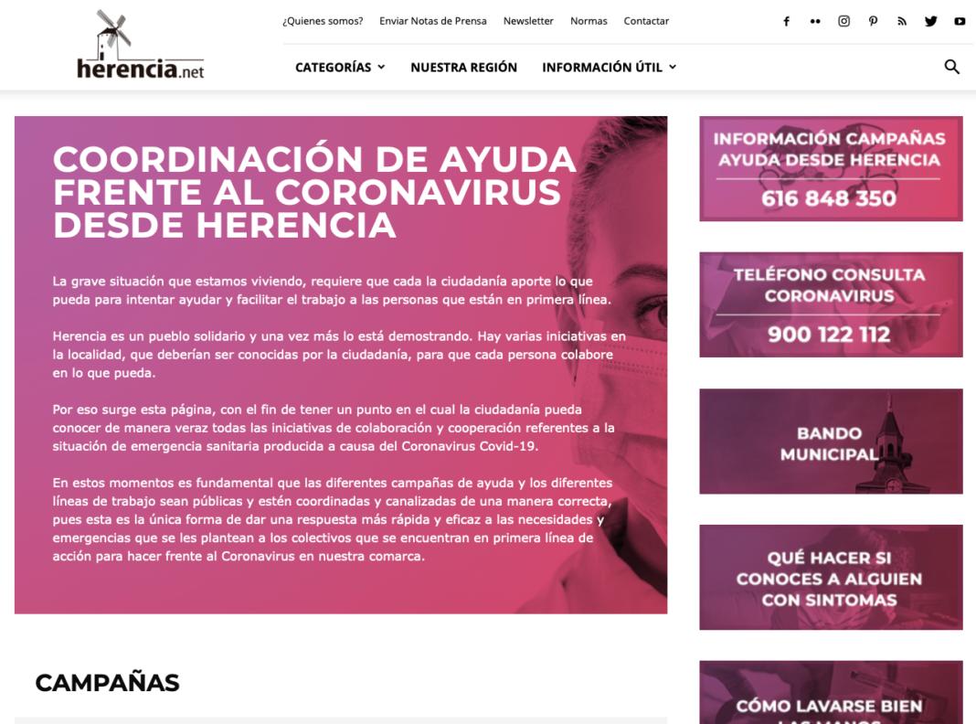 web coronavirus 1068x792 - Herencia movilizada contra el coronavirus