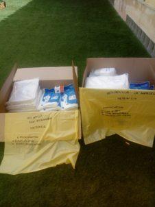 2020 04 24 Material sanitario y buzos a las residencias de Herencia4 226x302 - Ánthropos y la generosidad de la comunidad ante el coronavirus