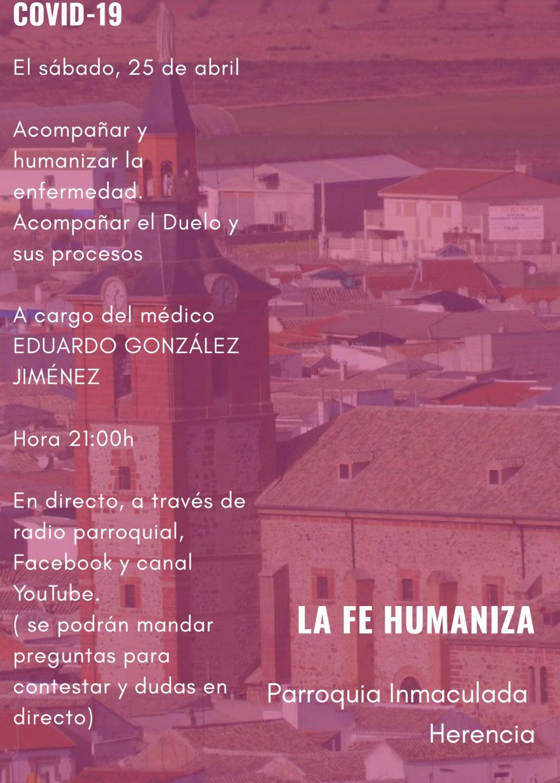 Acompañar y humanizar la enfermedad y el duelo 1068x1495 - Charla sobre la humanización de la enfermedad y el duelo en época del COVID-19