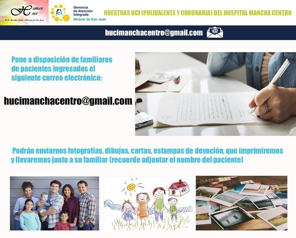 Servicio para enviar cartas, fotografías y mensajes los para pacientes en aislamiento del hospital Mancha Centro 3