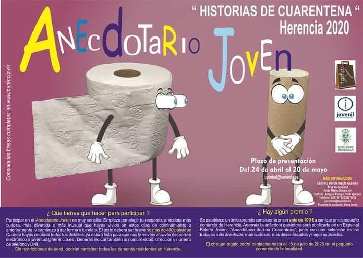 Cartel anecdotario joven - El área de Juventud pone en marcha el «Anecdotario de una cuarentena»