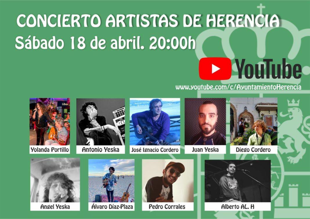 Concierto artistas de Herencia 1068x756 - Concierto virtual de artistas de Herencia