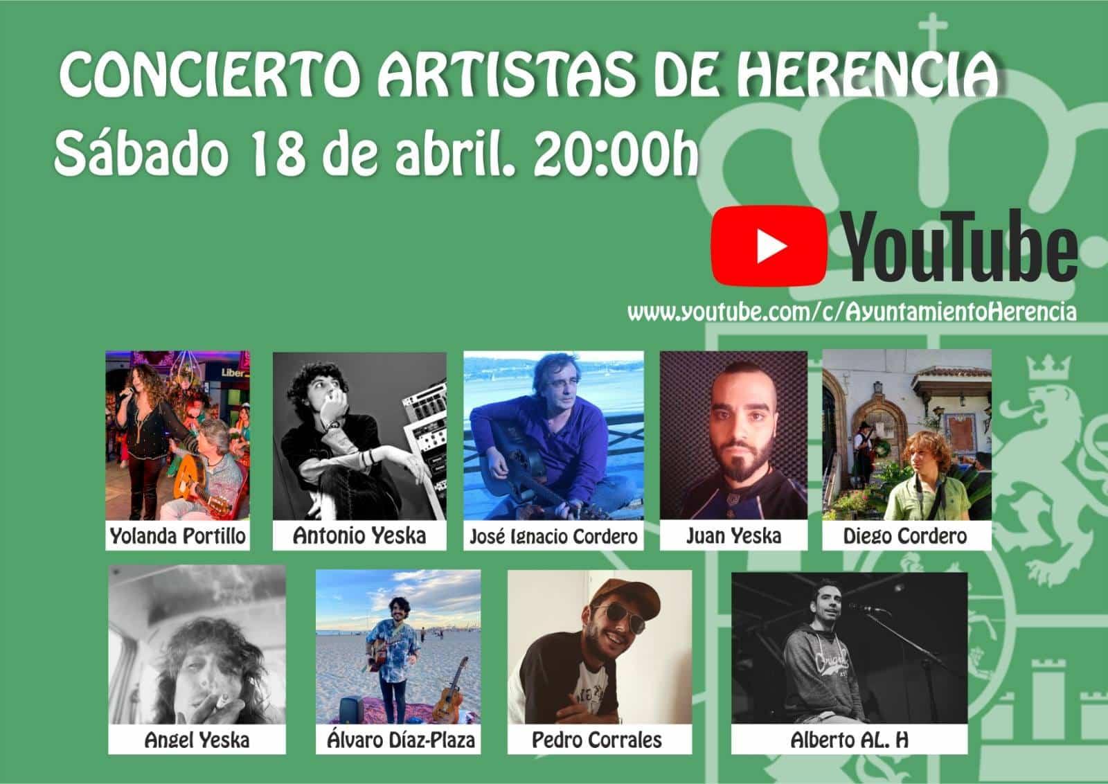 Concierto virtual de artistas de Herencia 3