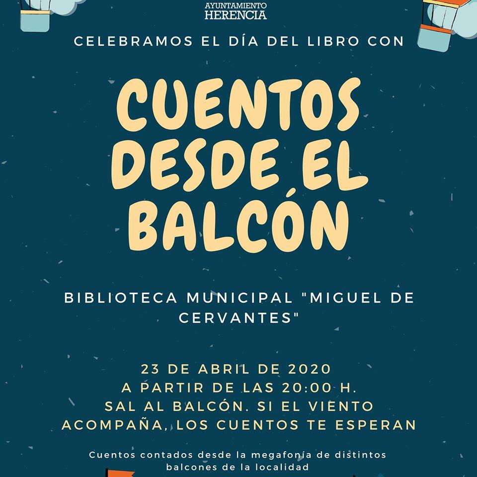 Cuentos desde el balc%C3%B3n - Poemas compartidos, cuentos en casa y desde el balcón para celebrar el Día del Libro