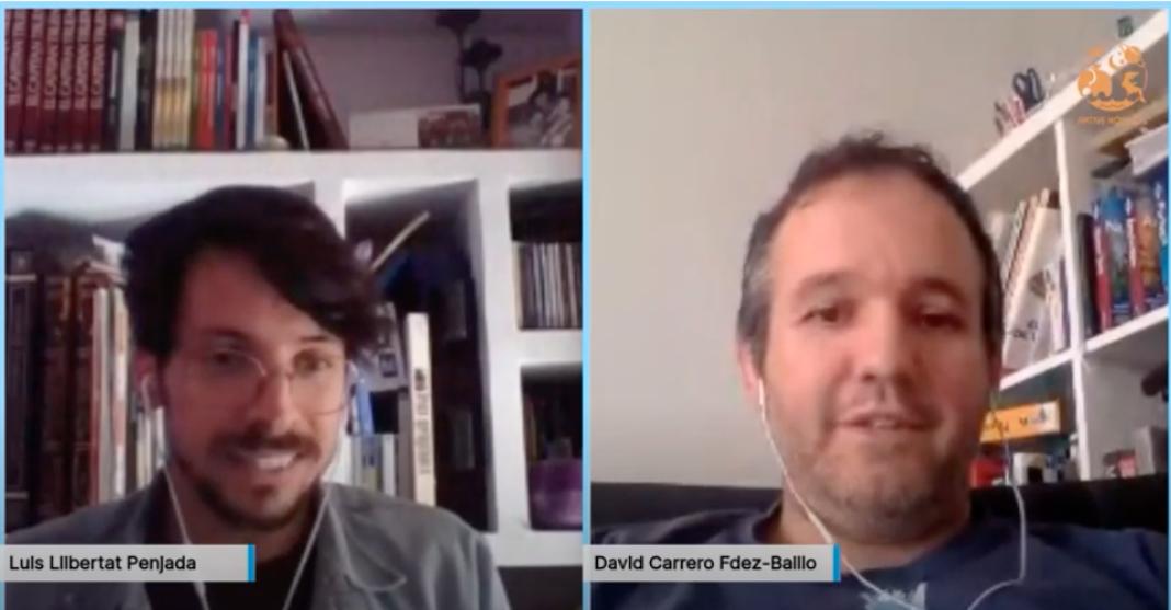 David Carrero entrevistado por Aktive Kosmos 1068x557 - Vídeo de la entrevista desde casa de AKtive Kosmos a David Carrero
