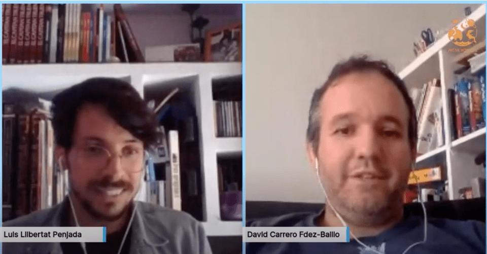 David Carrero entrevistado por Aktive Kosmos - Vídeo de la entrevista desde casa de AKtive Kosmos a David Carrero