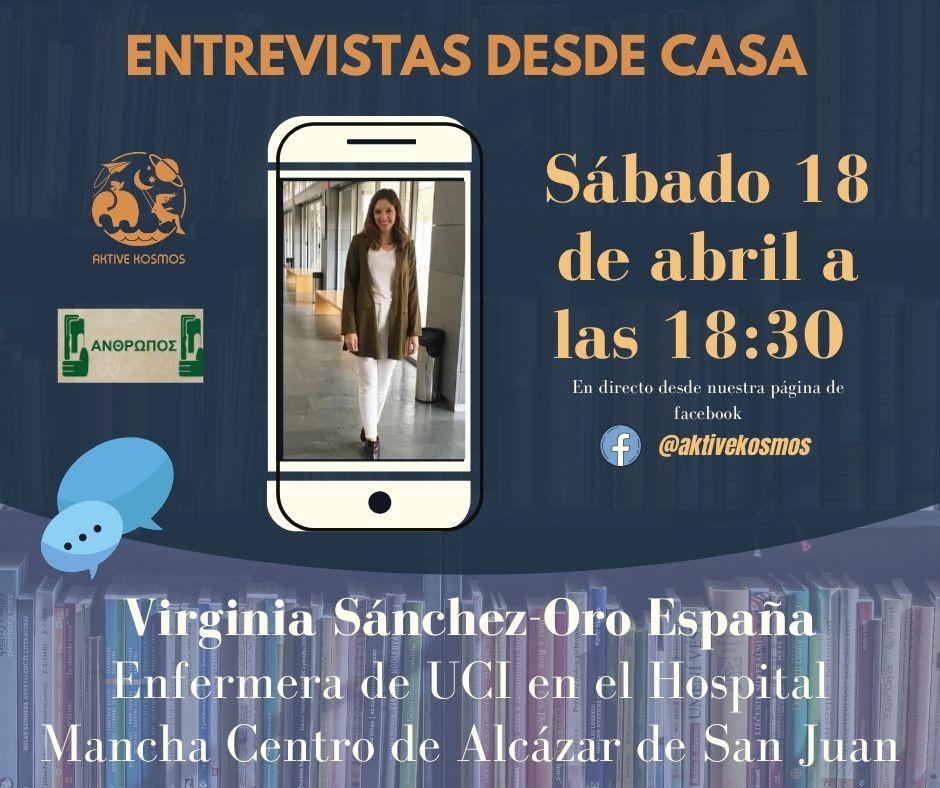 Entrevista desde casa a Virginia Sánchez-Oro, enfermera de UCI del hospital Mancha Centro 3