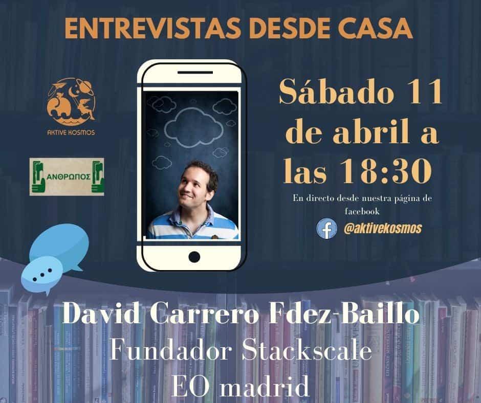 Entrevista desde casa con David Carrero - Entrevista desde casa a David Carrero miembro del Proyecto Respiradores de EOMadrid