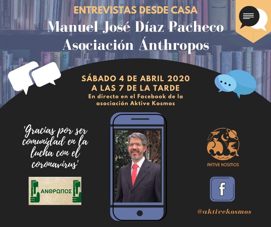 Entrevista en directo a Manuel José Díaz-Pacheco de la asociación Ánthropos 3