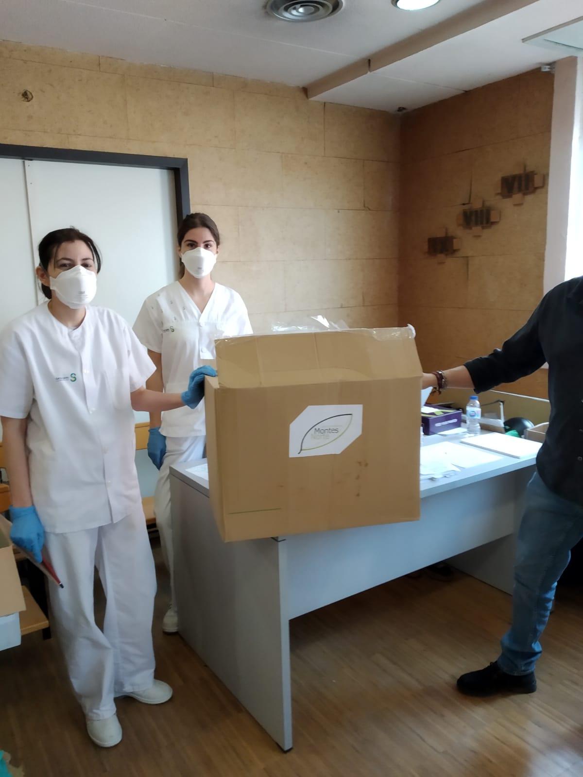 Grupo Montes Norte ha entregado material de protecci%C3%B3n a hospitales y otros centros1 - Grupo Montes Norte colabora con varios Hospitales y colectivos de la provincia con equipos de protección contra COVID-19