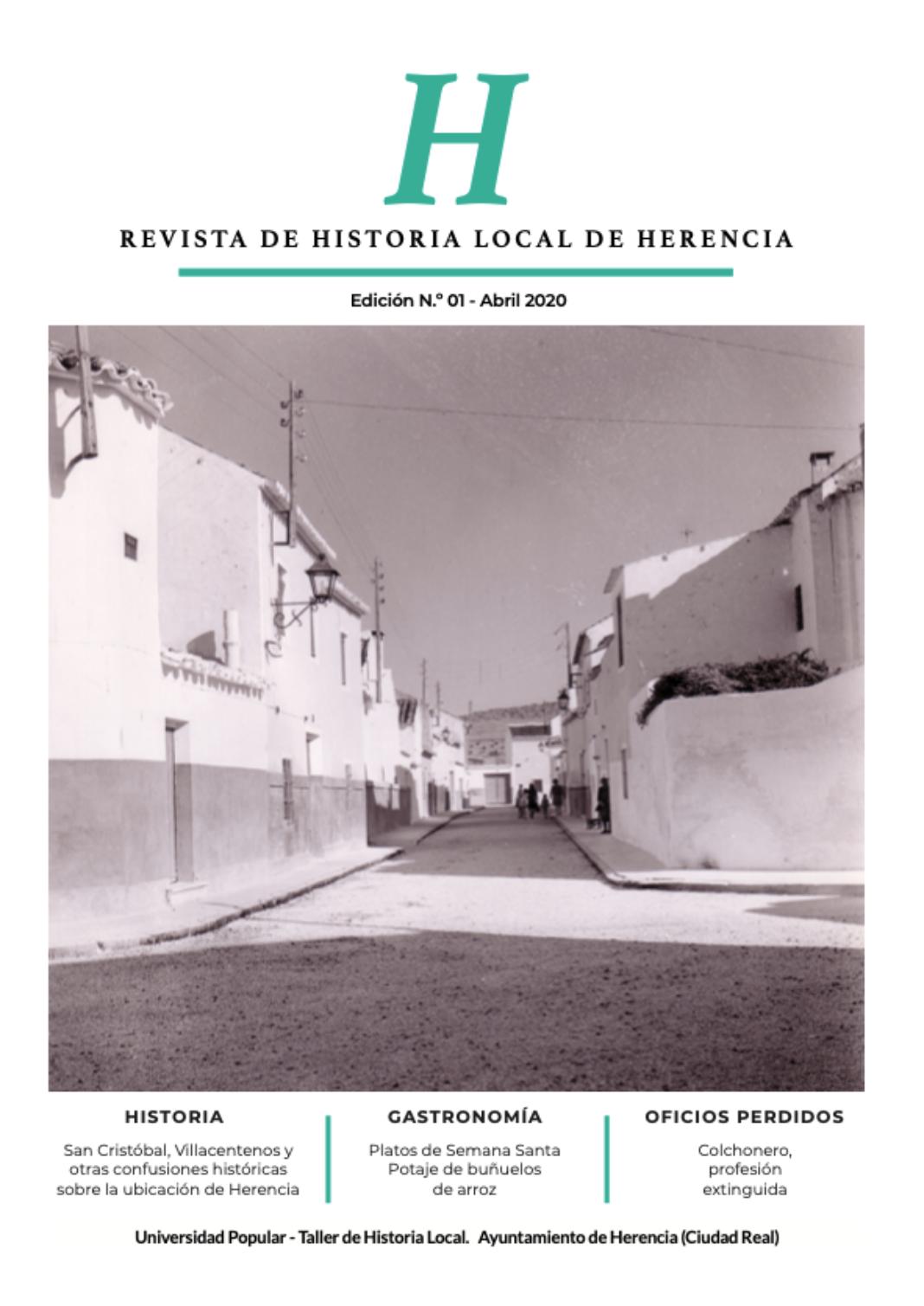 H revista de Historia Local de Herencia 1068x1509 - La Universidad Popular, a través del Taller de Historia Local, lanza una revista sobre la historia y el patrimonio de Herencia