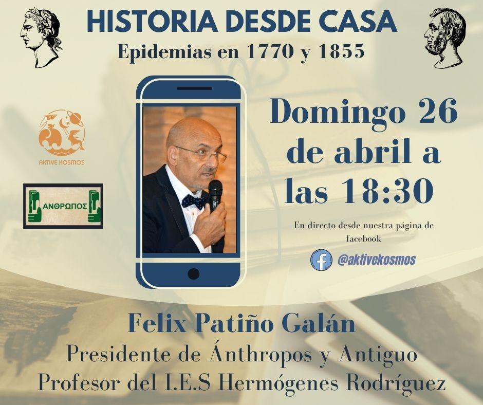 Félix Patiño contará como se vivieron las epidemias de 1770 y 1855 en nuestra comarca 3