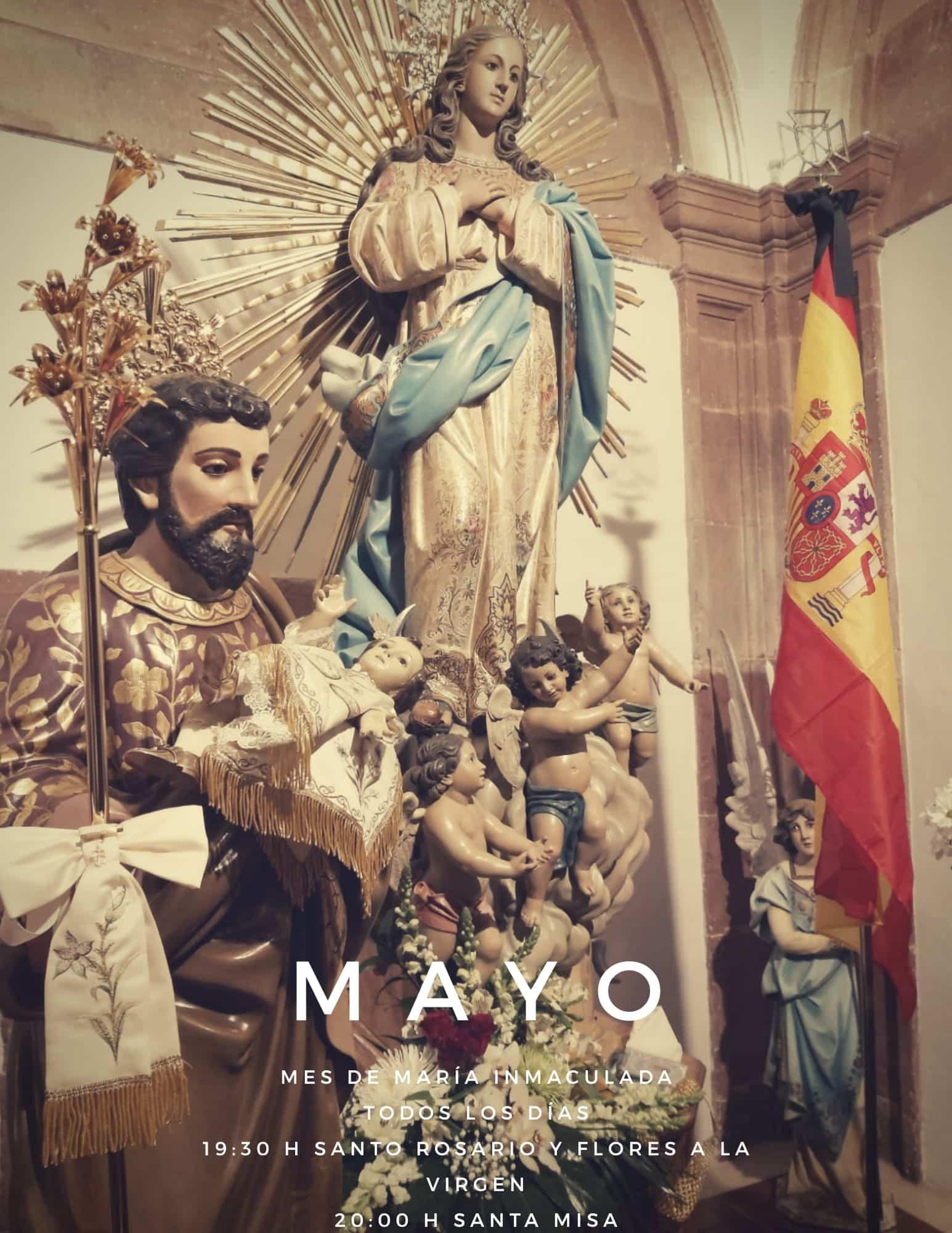 Mes de mayo en la parroquia - La parroquia Inmaculada Concepción inicia un mes de mayo dedicado a María