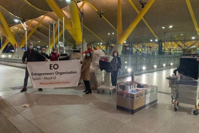 Respiradores EO Madrid1 687x458 - EOMadrid entrega dos respiradores al hospital Mancha Centro de Alcázar de San Juan