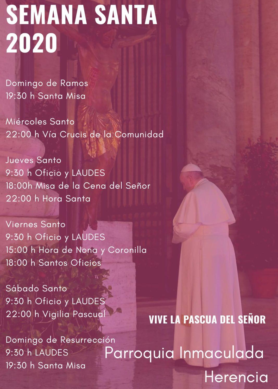 Semana Santa en la parroquia de Herencia 1068x1495 - Las celebraciones de Semana Santa de la parroquia Inmaculada Concepción podrán seguirse por Facebook y Radio María