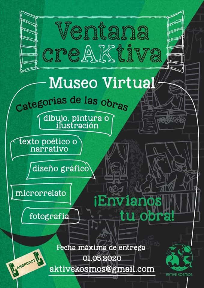 Ventana creativa - Colabora en la creación de un museo virtual con obras que recojan lo que se está viviendo por la COVID-19