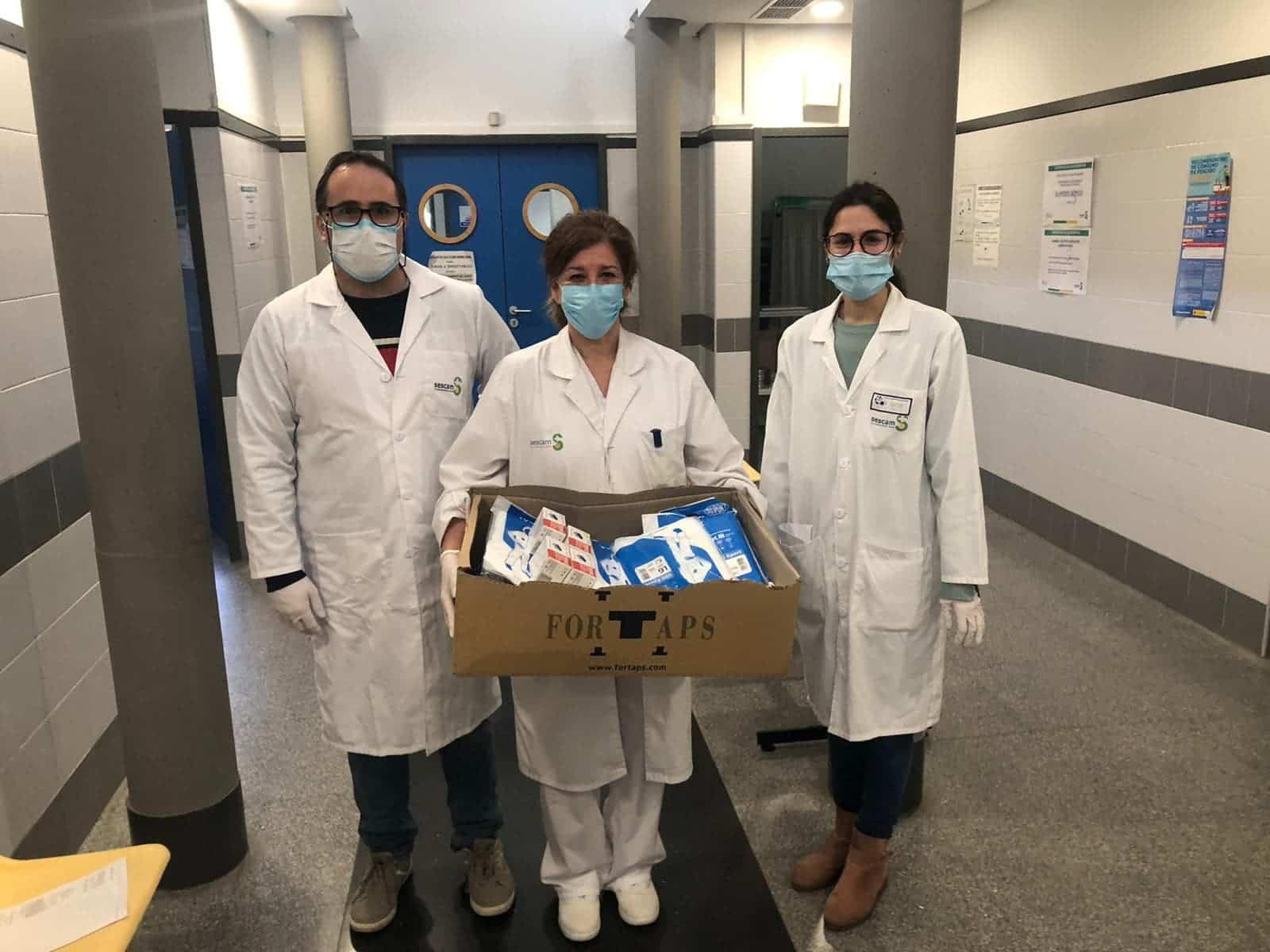La comunidad dota de material sanitario al Centro de Salud de Herencia 7
