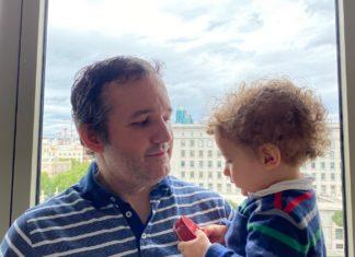 David Carrero (padre) y su hijo Bruno. Fotografía David Carrero - @Carrero