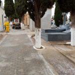 desinfecci%C3%B3n del cementerio 150x150 - Continúan los trabajos de desinfección y el reparto de mascarillas y guantes