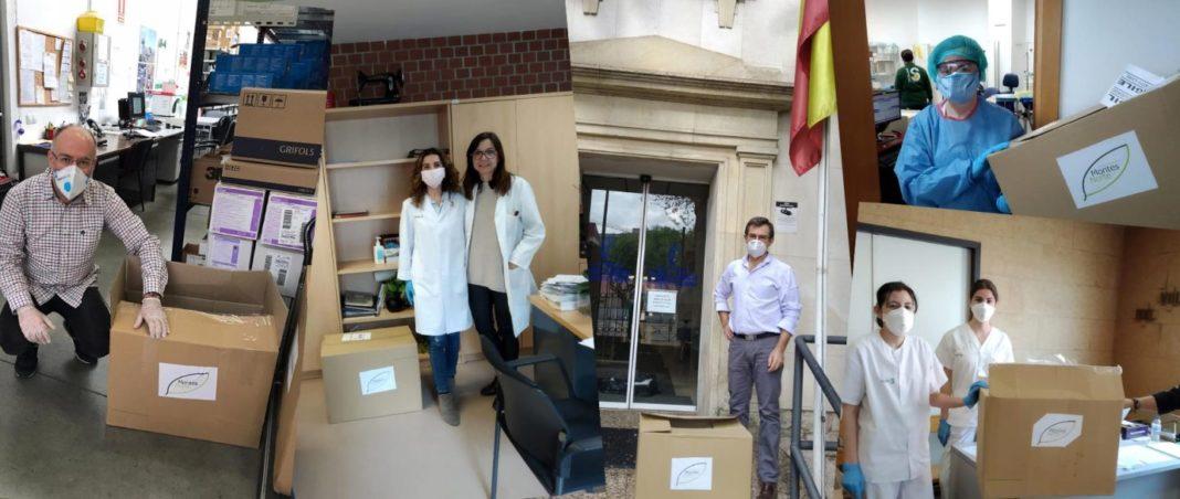 donacion hospitales 1068x452 - Grupo Montes Norte colabora con varios Hospitales y colectivos de la provincia con equipos de protección contra COVID-19