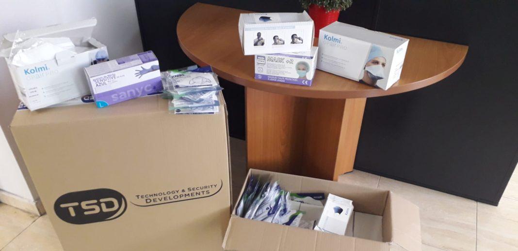 material TSD para el hospital 1068x519 - TSD dona material al hospital Mancha Centro