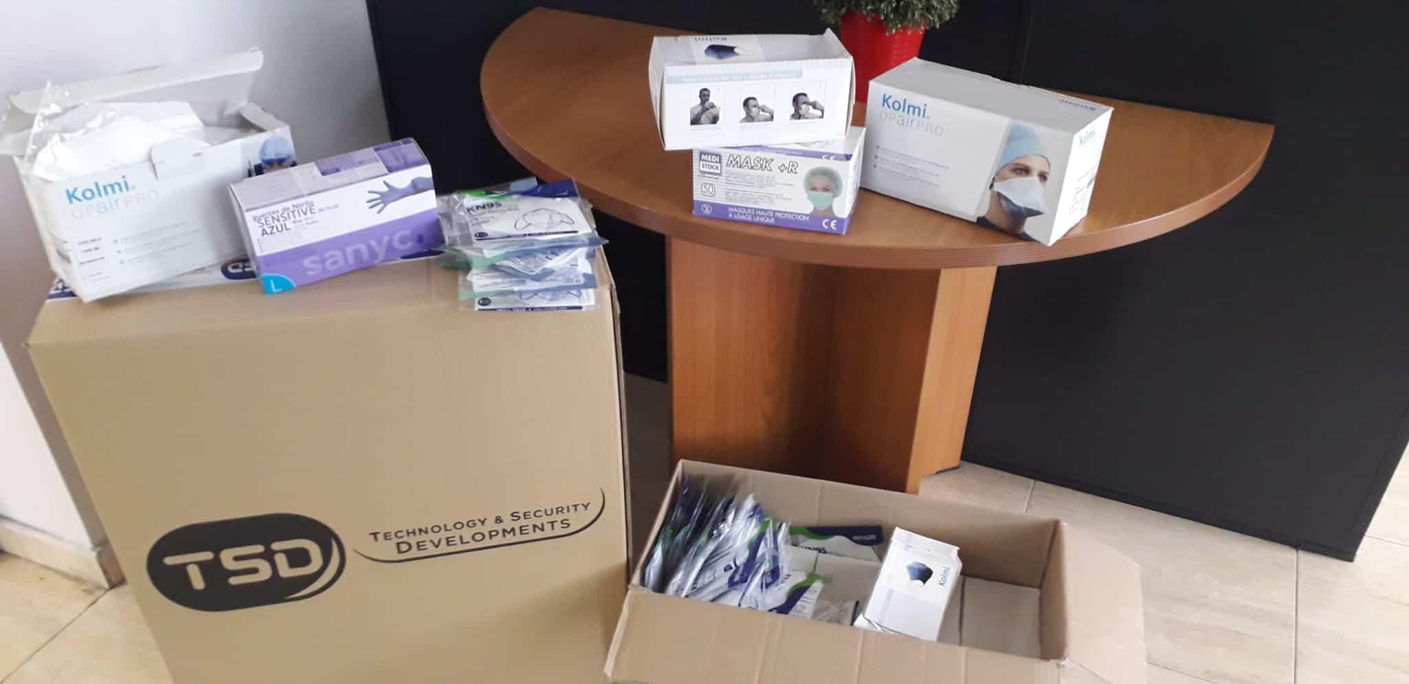 material TSD para el hospital - TSD dona material al hospital Mancha Centro