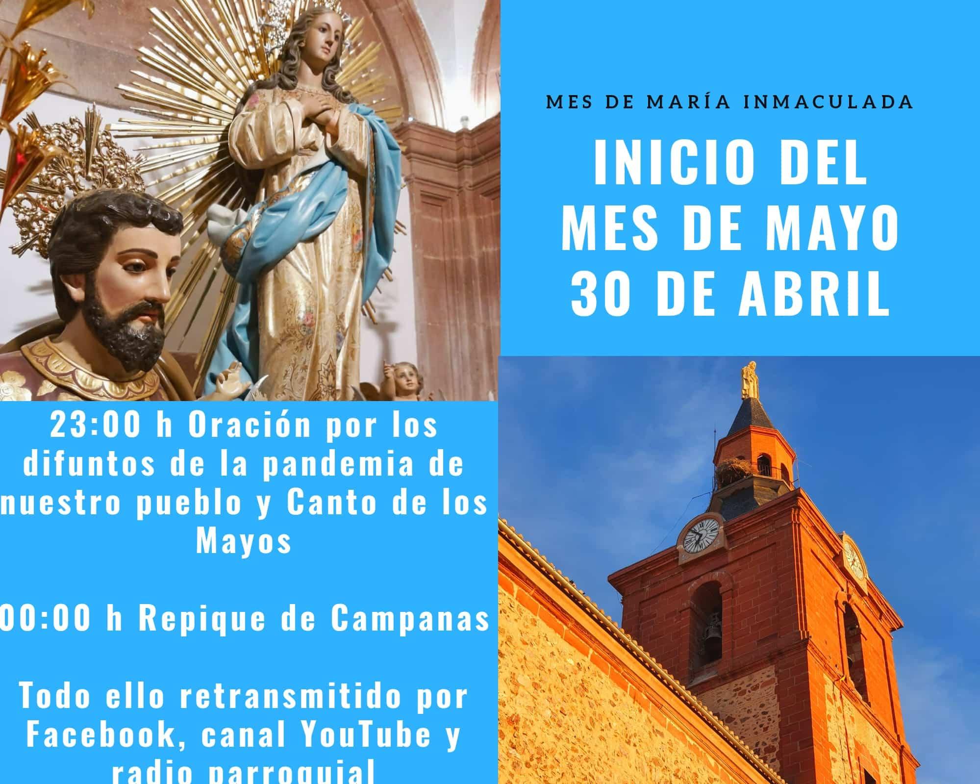 mes de mayo en la parroquia1 - La parroquia Inmaculada Concepción inicia un mes de mayo dedicado a María