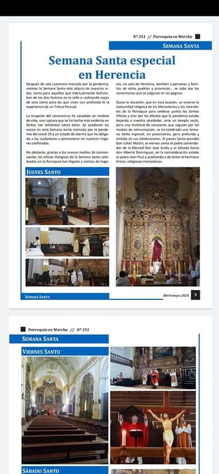 Parroquia en Marcha, revista decana de Herencia, descargable online en su especial sobre COVID-19 6