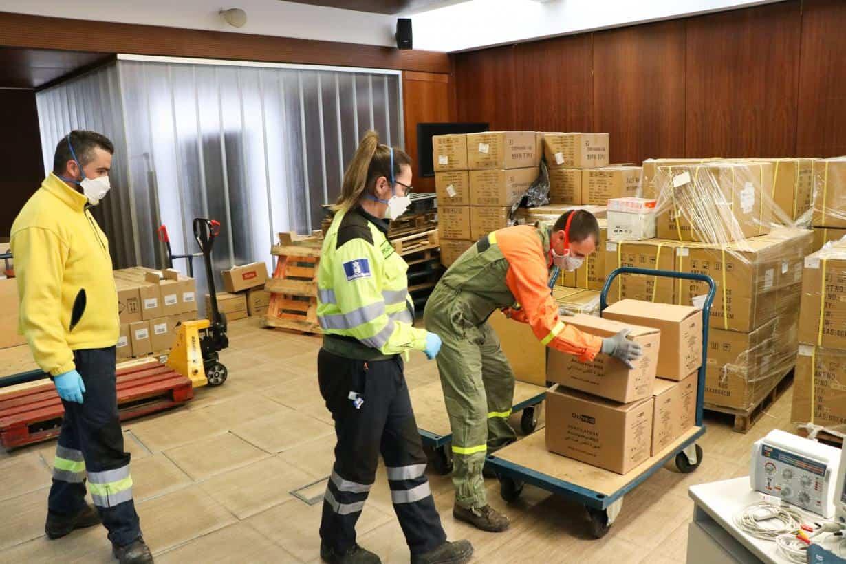 respiradores adquiridos por el gobierno de CLM - Comienza el reparto de los nuevos respiradores