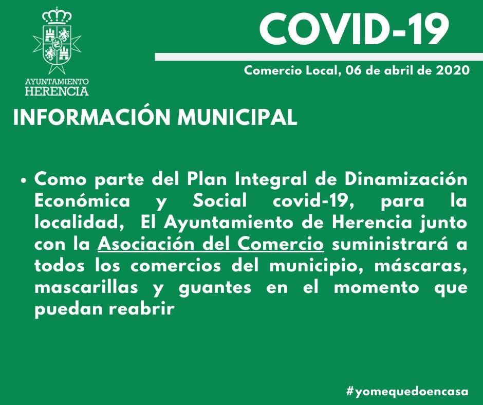 suministro de epis al comercio - Nuevas acciones municipales dentro del plan integral económico y social COVID-19