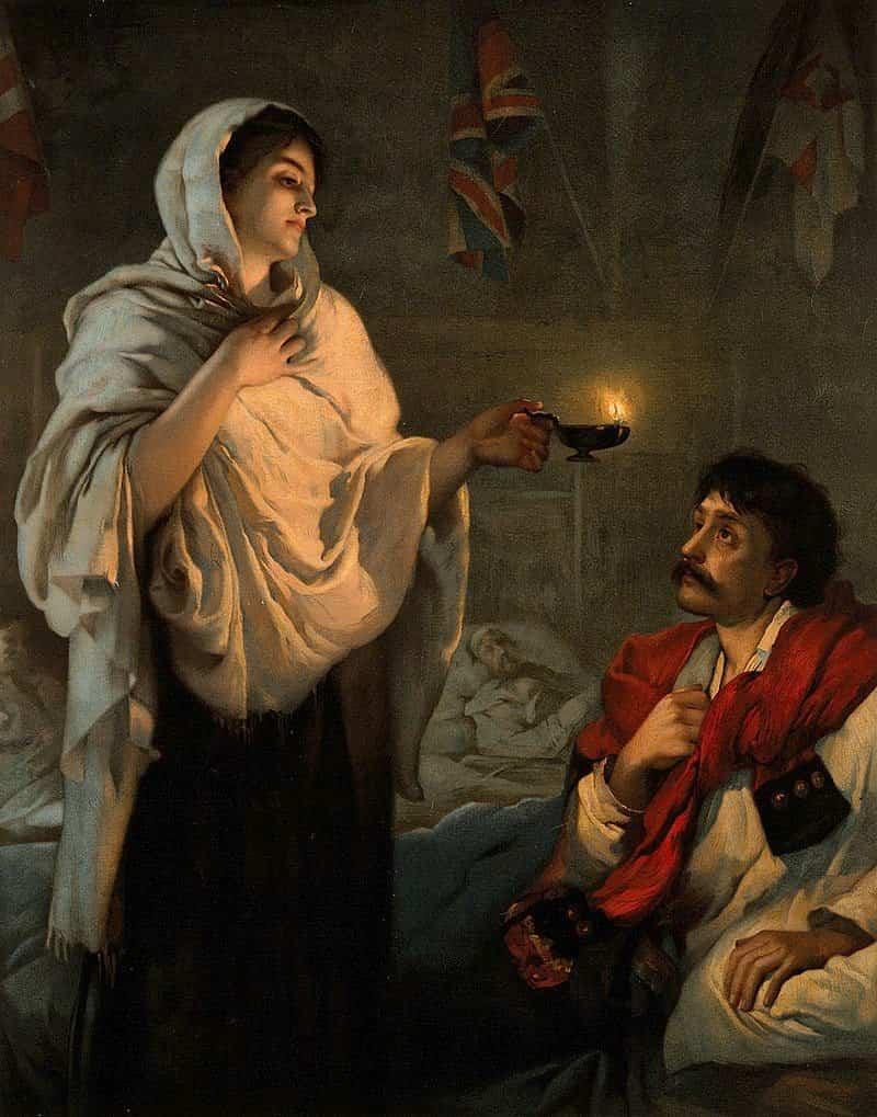 800px Florence Nightingale. Coloured lithograph. Wellcome V0006579 - El año de la enfermería