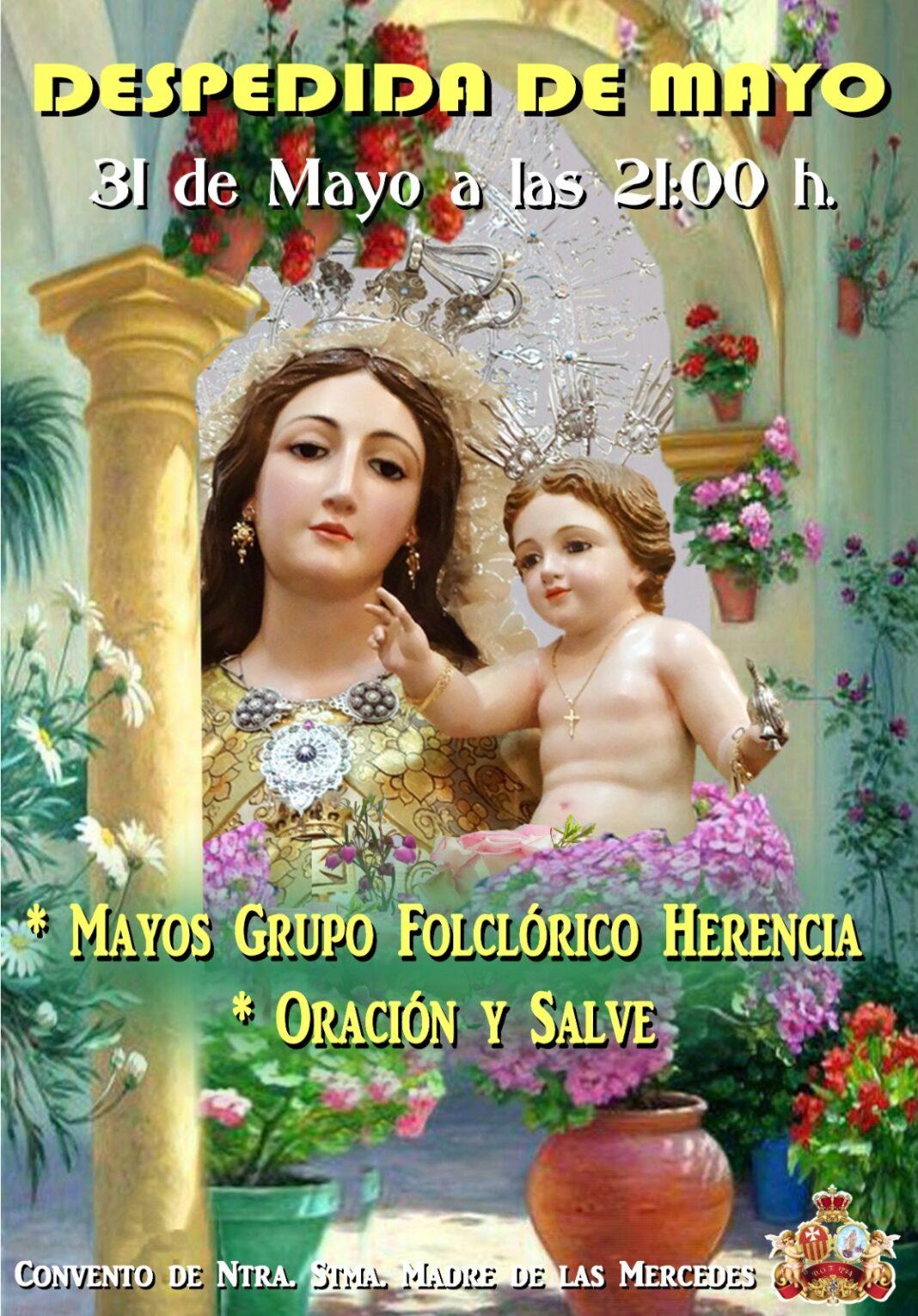 Despedida del mes de mayo en el convento de La MErced 1068x1531 - El convento de la Merced despedirá el mes de mayo con el canto de los mayos