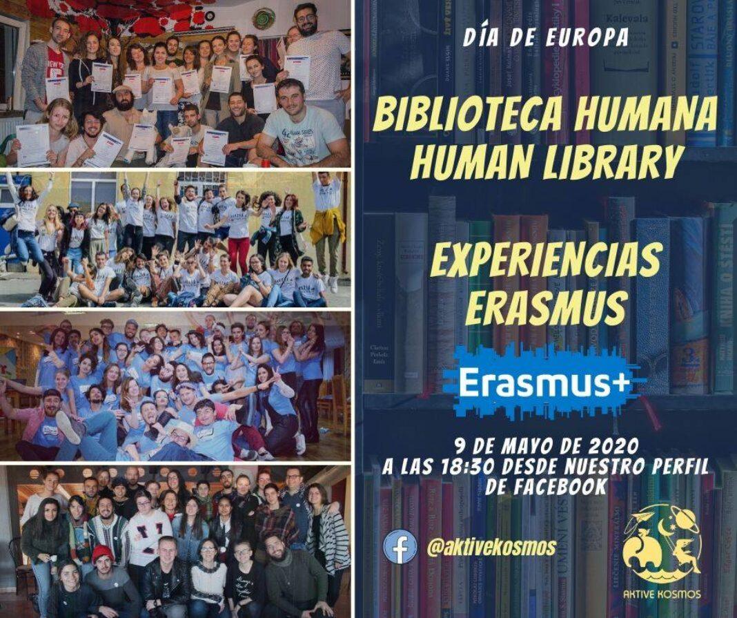 biblioteca humana expereincias Erasmus 1068x895 - Aktive Kosmos celebra el Día de Europa con una biblioteca humana de experiencias Erasmus