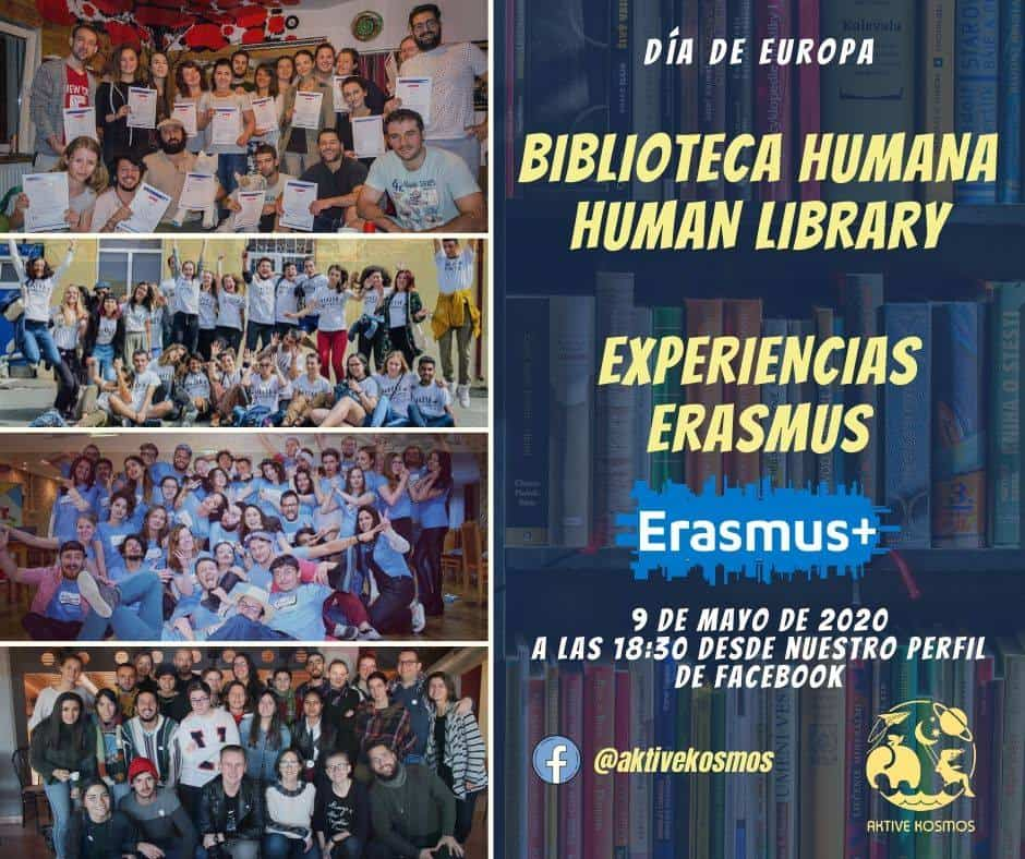 biblioteca humana expereincias Erasmus - Aktive Kosmos celebra el Día de Europa con una biblioteca humana de experiencias Erasmus