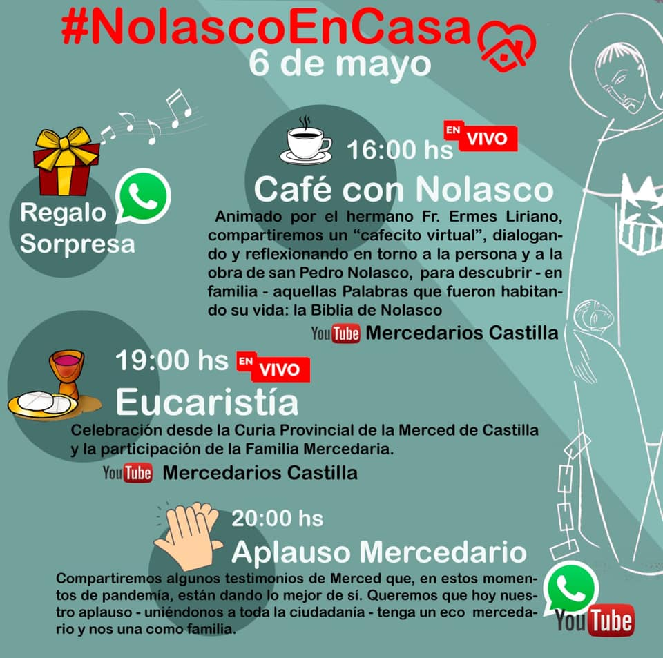 fiesta mercedaria día de san pedro nolasco - La familia mercedaria celebra la fiesta de su fundador San Pedro Nolasco
