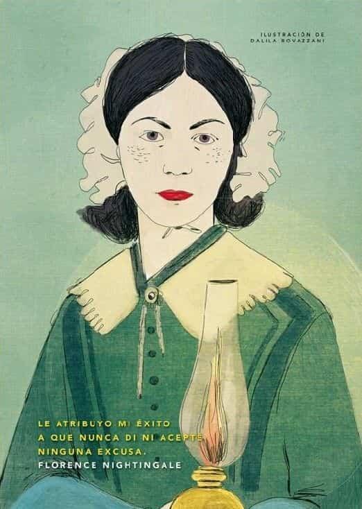 florence nightingale illustration by dalila rovazzani - El año de la enfermería