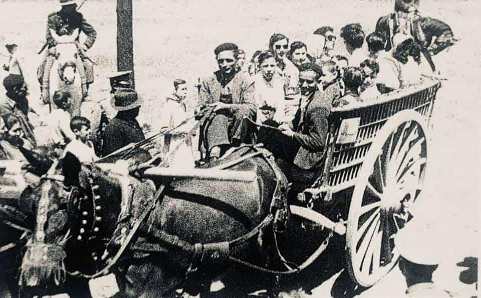 herencia de romeria 1 foto antigua - Historia de las romerías en Herencia. Fotografías antiguas