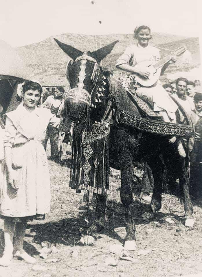 herencia de romeria 3 foto antigua - Historia de las romerías en Herencia. Fotografías antiguas