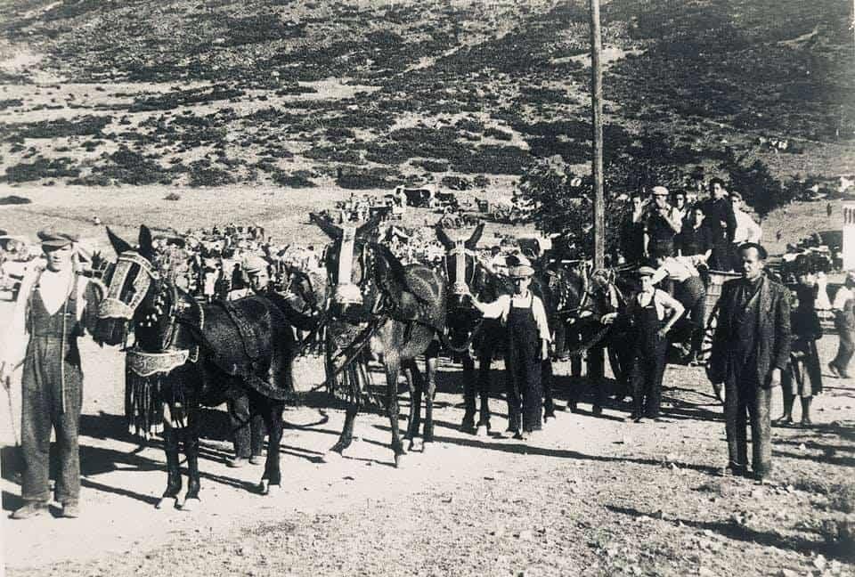 herencia de romeria 4 foto antigua - Historia de las romerías en Herencia. Fotografías antiguas