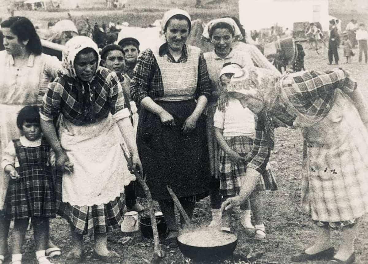 herencia de romeria 5 foto antigua - Historia de las romerías en Herencia. Fotografías antiguas