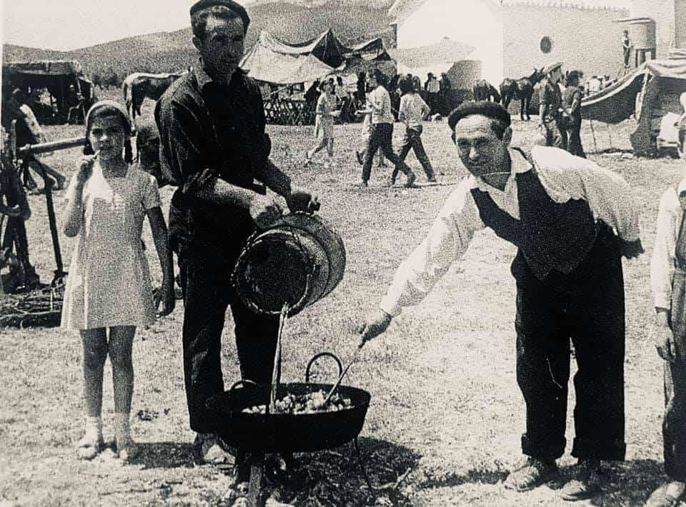 herencia de romeria 6 foto antigua - Historia de las romerías en Herencia. Fotografías antiguas