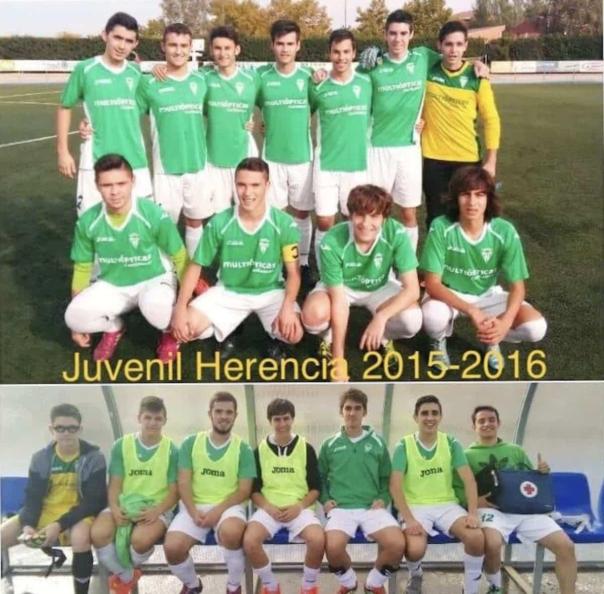 herencia futbol historia imagenes juvenil 2015 16 - Un paseo por el tiempo del Herencia Club de Fútbol, segunda parte