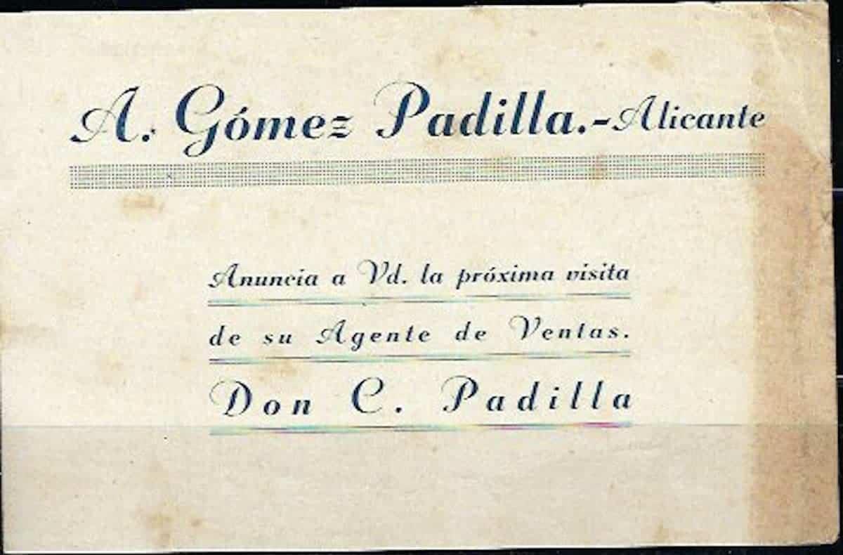 tarjeta comercial herencia antigua 1 - Imágenes del pasado: Tarjeta comercial a la Farmacia Ángel F. Conde