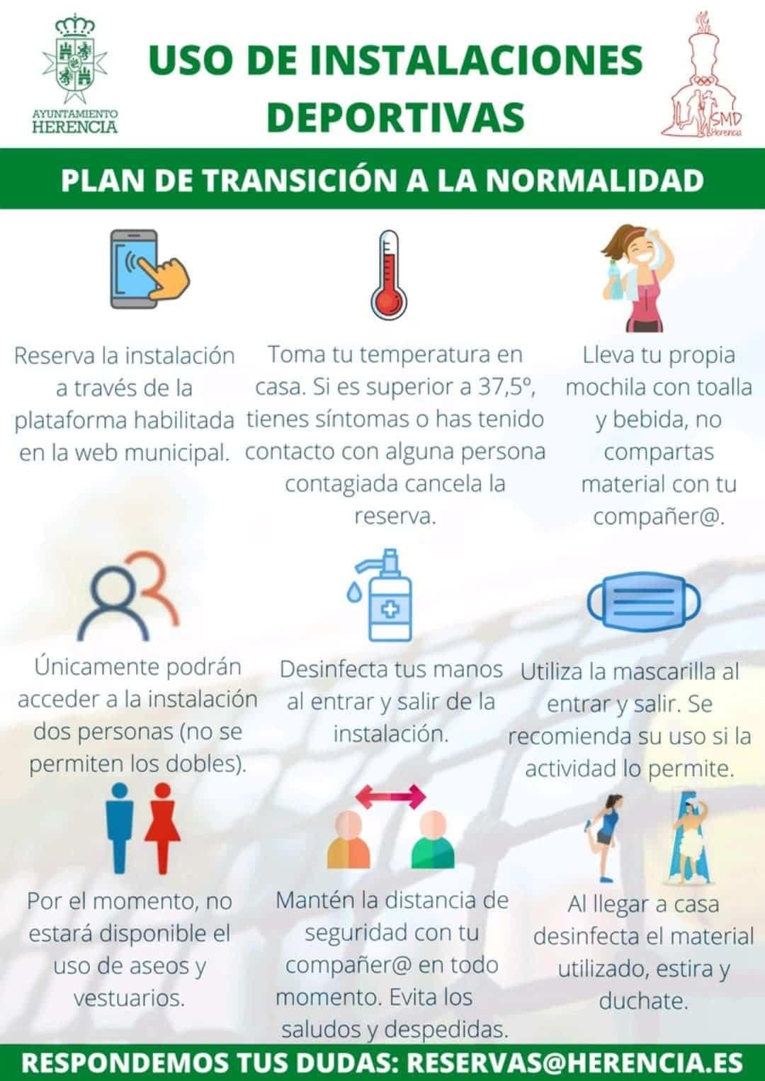 uso instalaciones deportivas herencia - Apertura progresiva de las instalaciones deportivas en fase 1 en Herencia