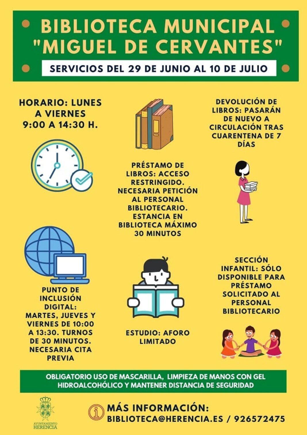 Ampliación de servicios en la Biblioteca Municipal a partir del 29 de junio y cambio de horario de verano 1