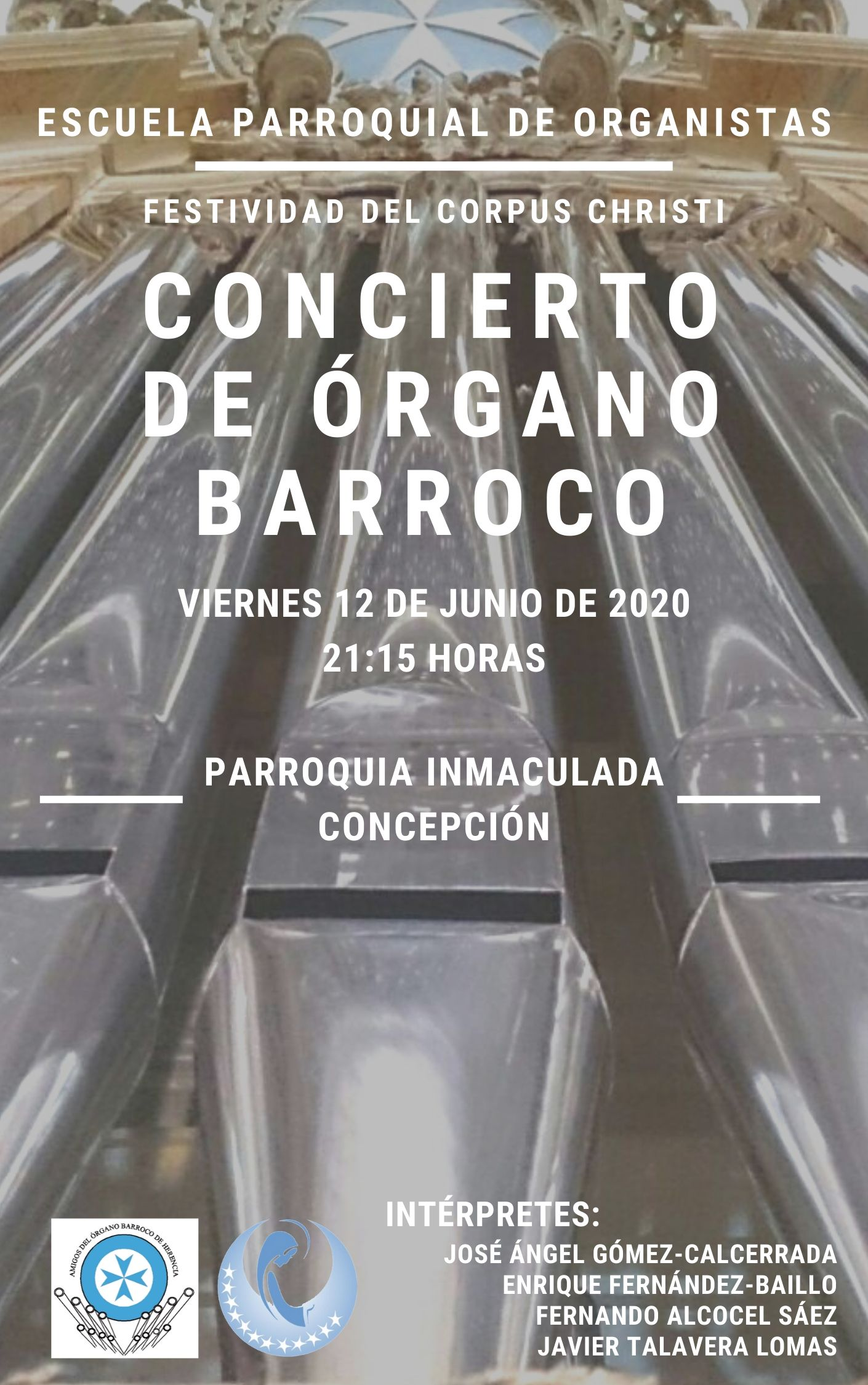concierto de %C3%B3rgano barroco - Programa Corpus Christi en la parroquia Inmaculada Concepción de Herencia