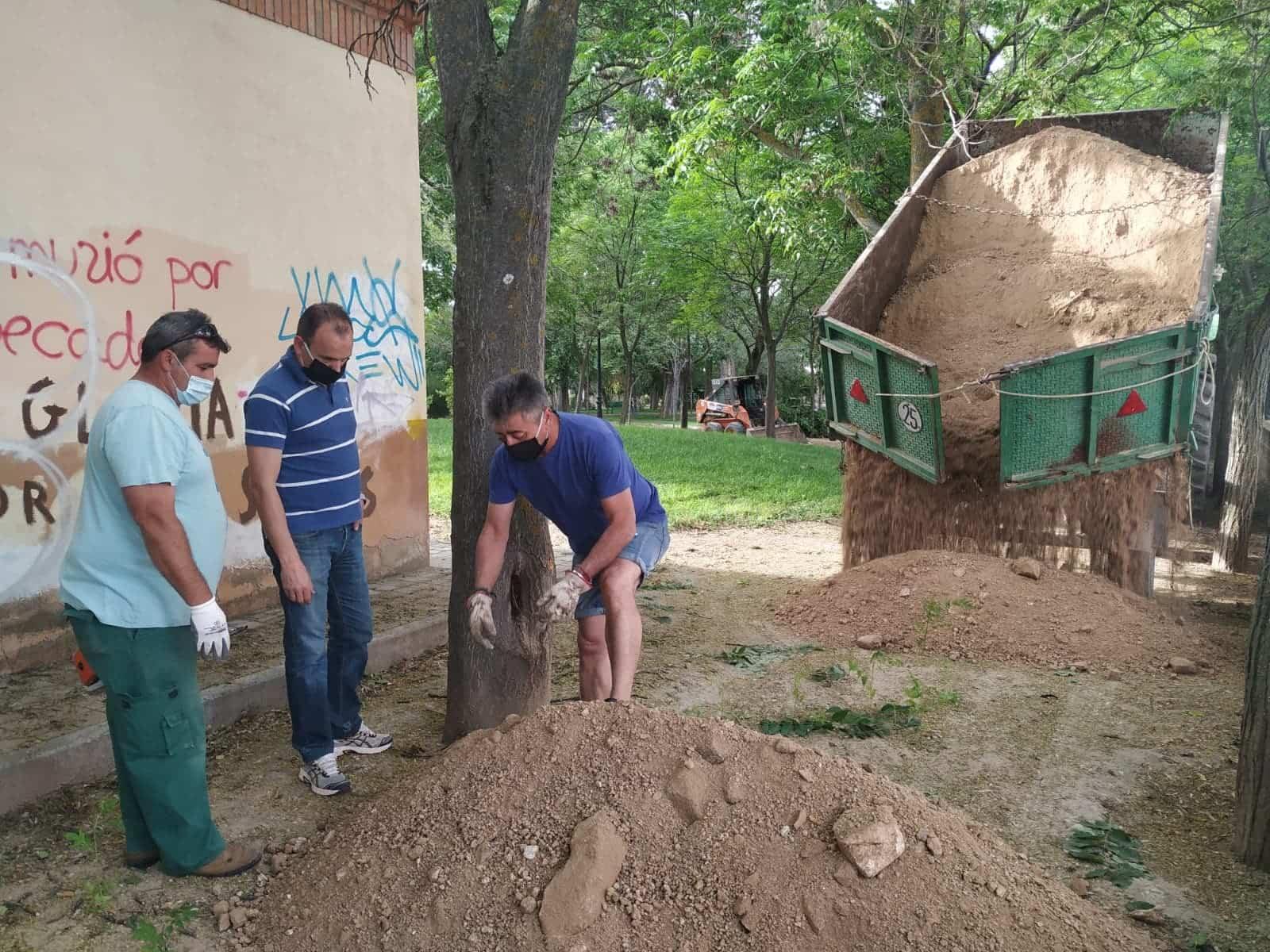 mantenimiento parque municipal herencia 1 - El Parque Municipal de Herencia finaliza sus obras de remodelación